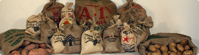 Whole Burlap Bags With Available Custom Printing