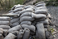 Proper Handling of Sandbags Used for Floods