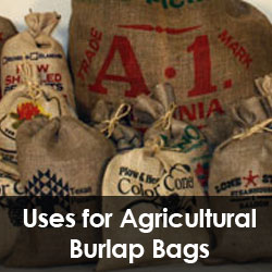 Uses for Agricultural Burlap Bags