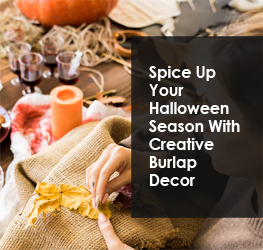 Spice Up Your Halloween Season With Creative Burlap Decor